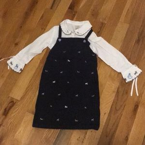Gymboree dress with matching button up shirt
